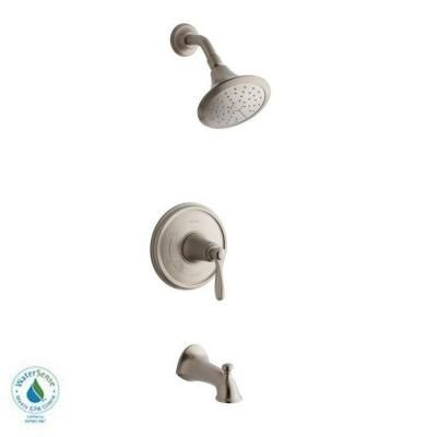 Attractive KOHLER Linwood Bath/Shower Faucet In Vibrant Brushed Nickel
