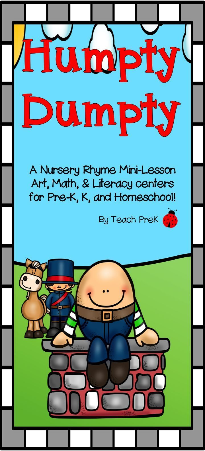 Humpty Dumpty Mini-Lesson for PreK, K & Homeschool | Humpty dumpty ...