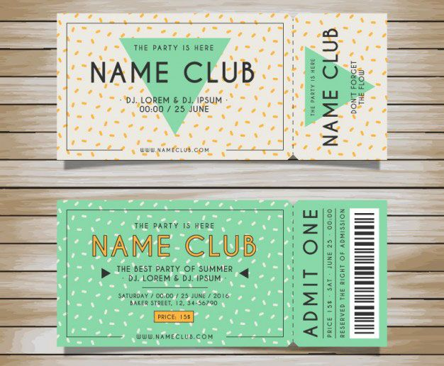 Ticket is not just a piece of paper or entry pass, it will give - printable ticket template free