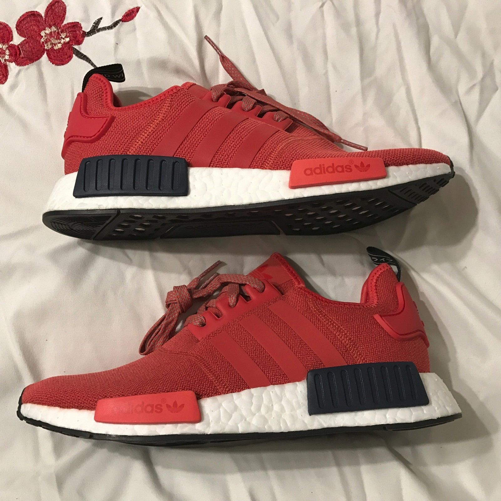 82293d39258e3 Adidas NMD R1 Womens size 9 Vivid Red S76013