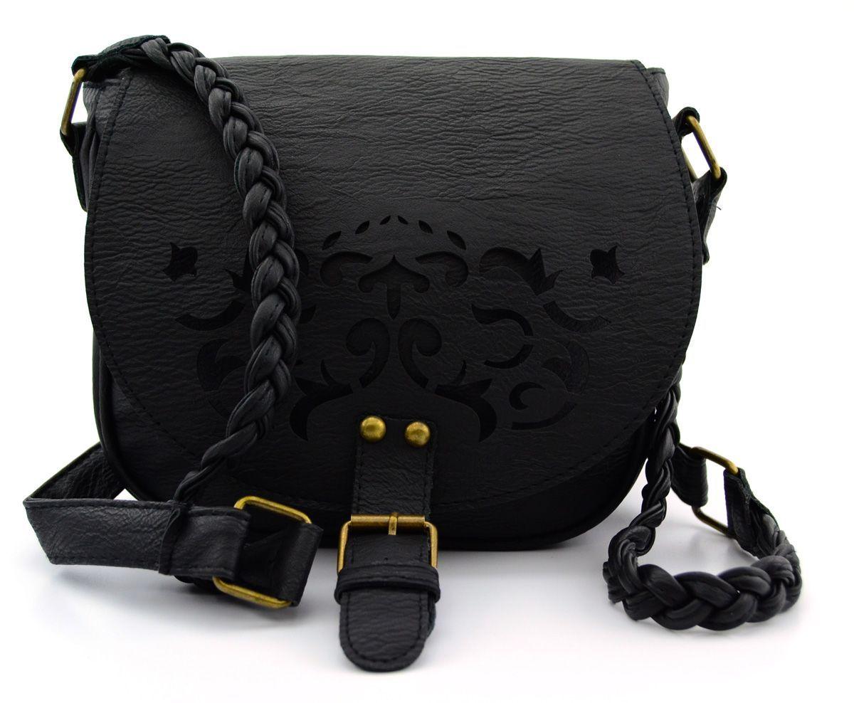 Photo of Black Braided Shoulder Bag (Large)