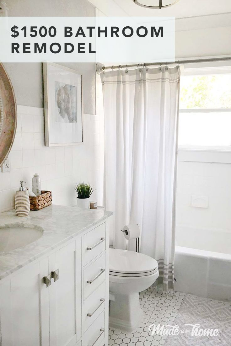 Small Bathroom Remodel For Under $1500
