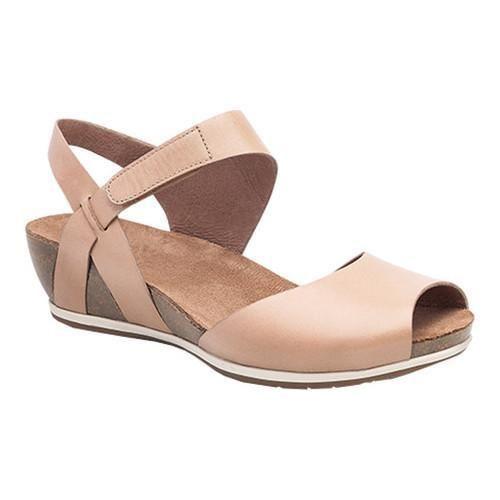 7047c52f0e5 Women s Dansko Vera Peep Toe Sandal Sand Full Grain Leather ...