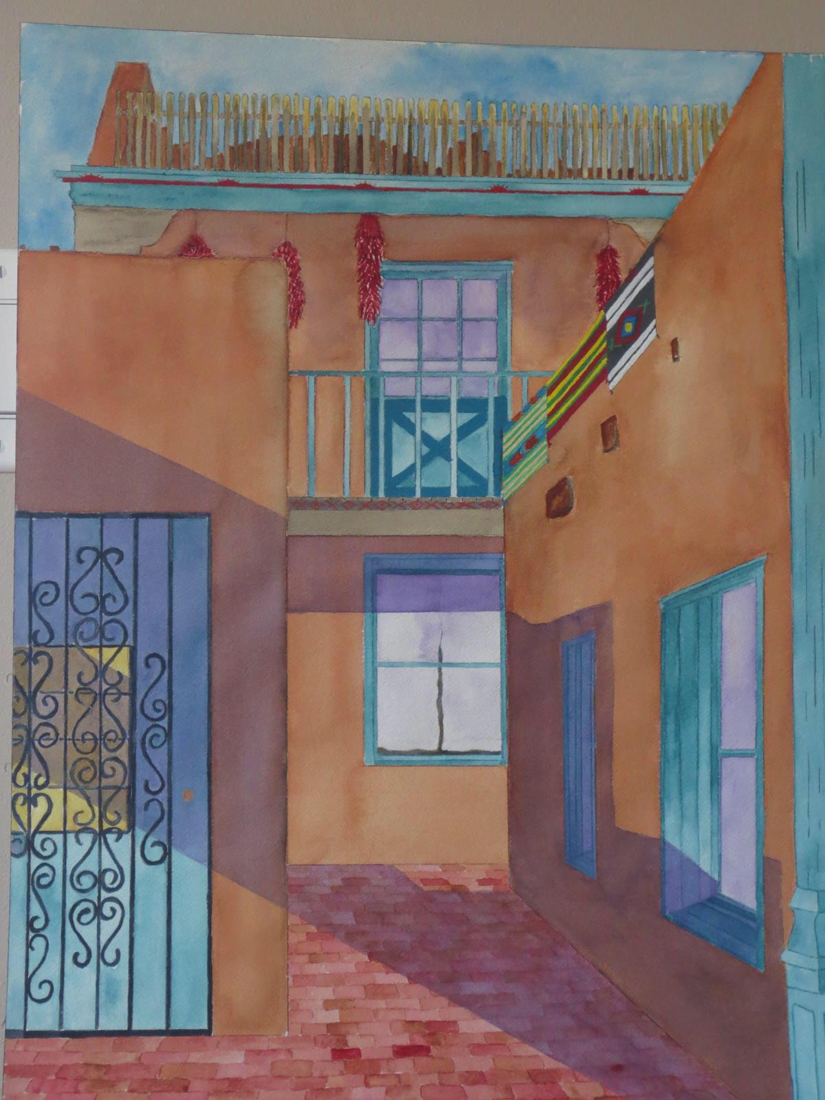 """Las Vegas , New Mexico"" 2011. Watercolor by Colin Claxon"