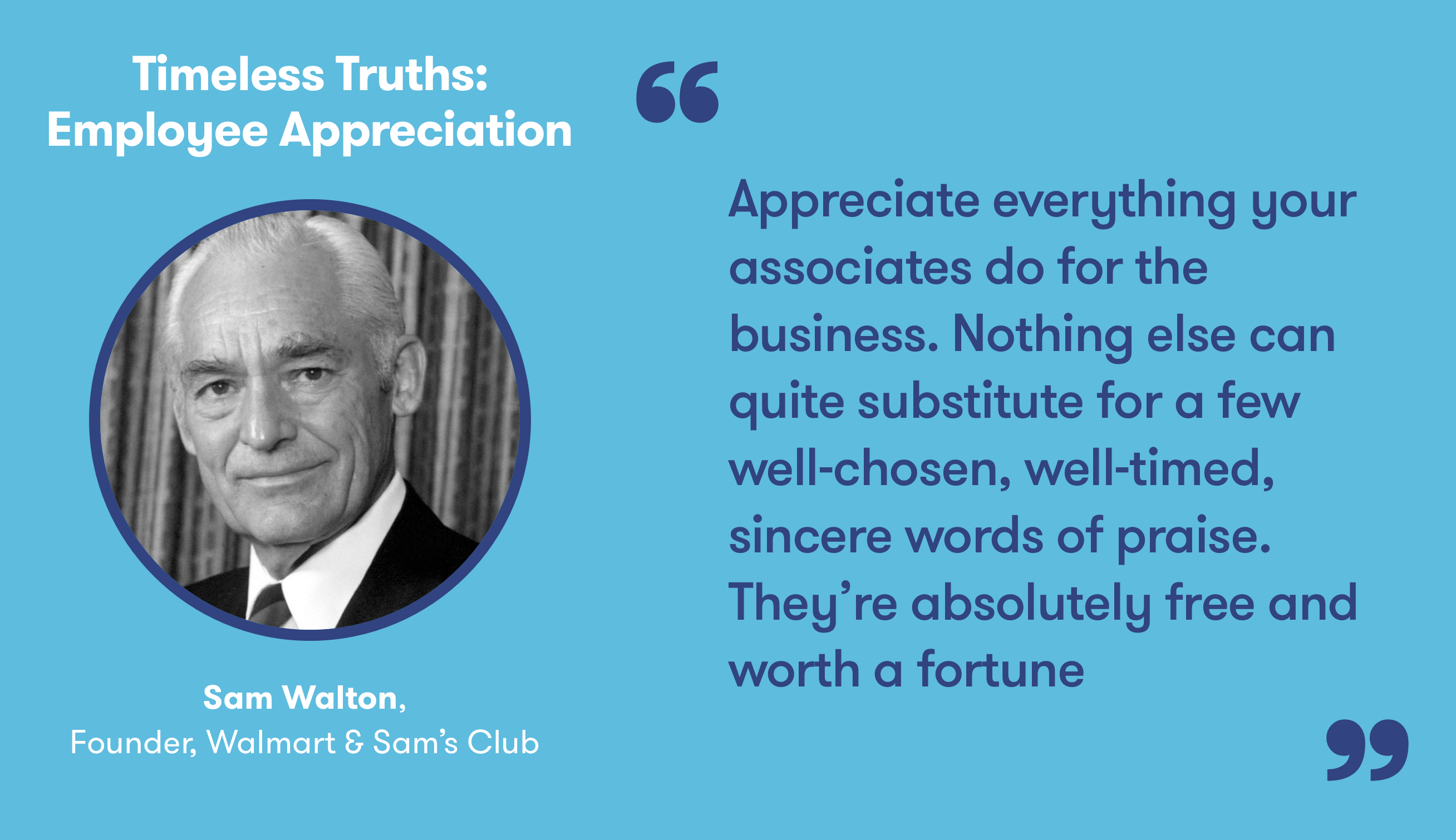 Inspirational quote on why showing your employees you appreciate