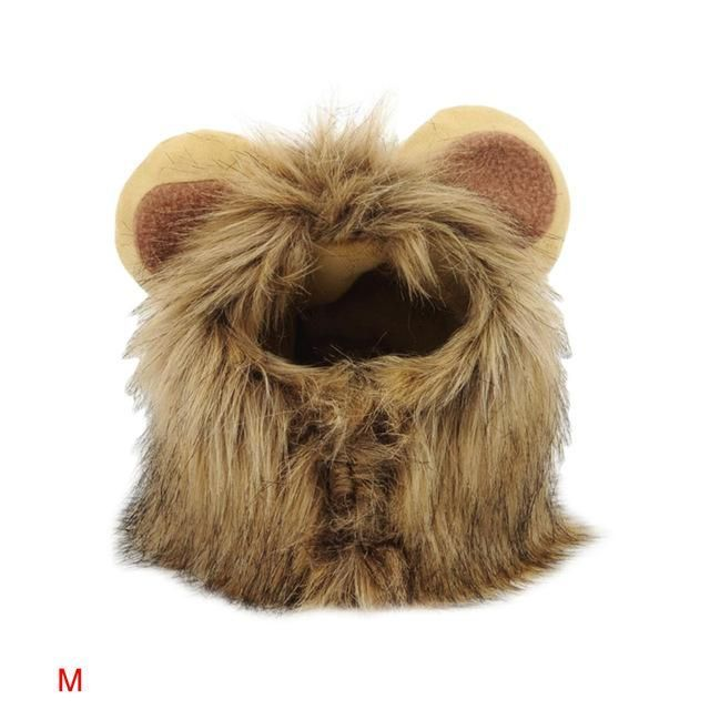 Cute Lion Mane Wig For Dog And Cat #Cat #Cute #Dog #lion #mane #Wig
