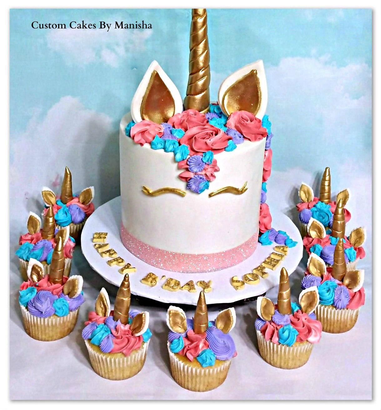 Unicorn Themed Cake and Cupcakes Cakes By Manisha Pinterest