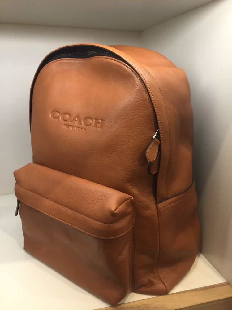 Coach Mens Saddle Leather Backpack Bag Beige | Bags, Diaper bags ...