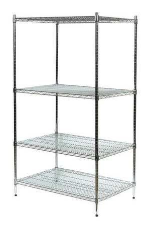 Industrial Wire Shelving And Accessories Zinc Industrial Wire Shelving By Value Brand 192 47 W Wire Shelving Garage Storage Organization Wire Shelving Units