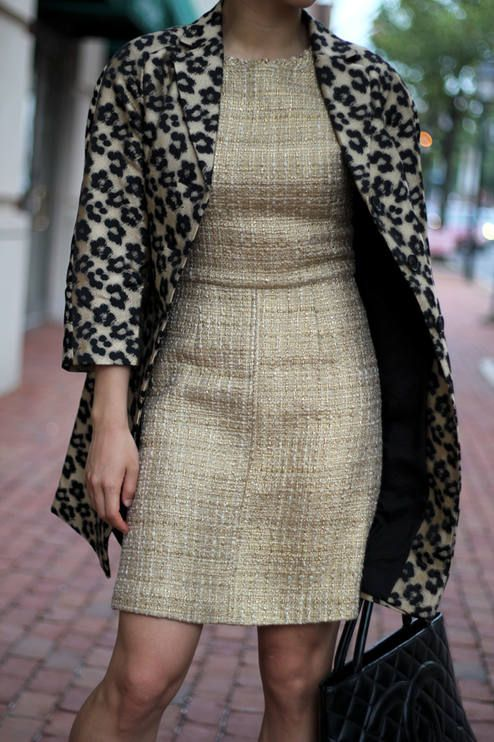 4a9a1c2d6bd3 Tweed And Leopard (+ Ann Taylor Floral Leopard Jacquard Topper) by Fast  Food & Fast Fashion