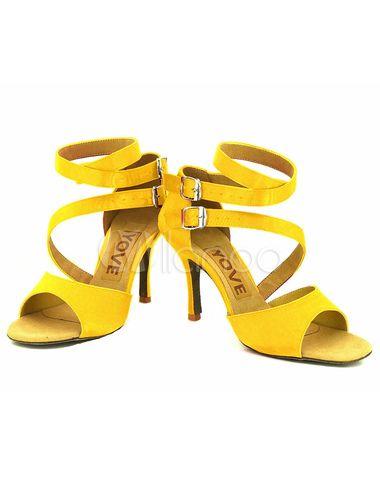 95bd82cd3def Peep Dance Shoes High Heel Women s Open Toe Ankle Strap Customized Ballroom  Shoes - Milanoo.