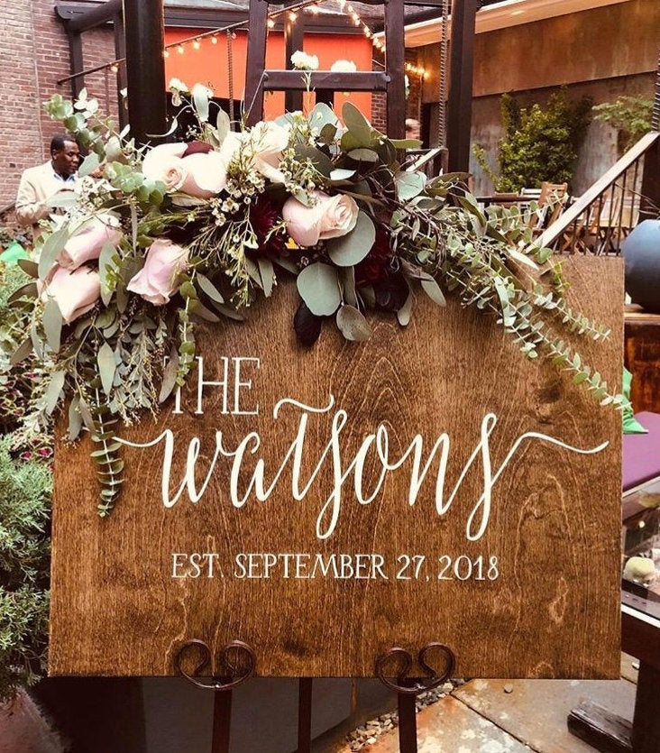 Wedding Welcome Sign | Rustic Wood Wedding Welcome Sign | Wedding Sign | Family Established Sign