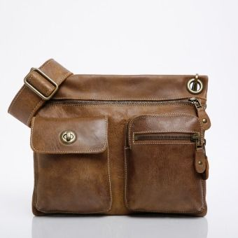 Village Bag In Vintage Tribe Leather Roots Original Flat Bags