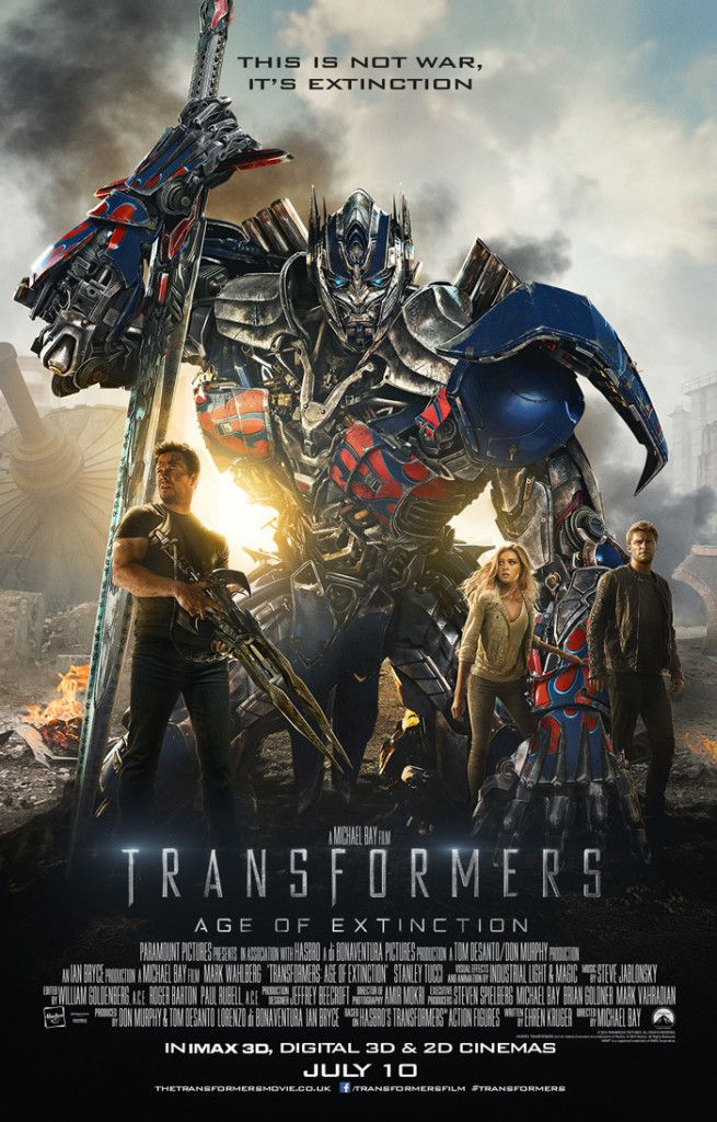New Poster For Transformers Age Of Extinction More Sword