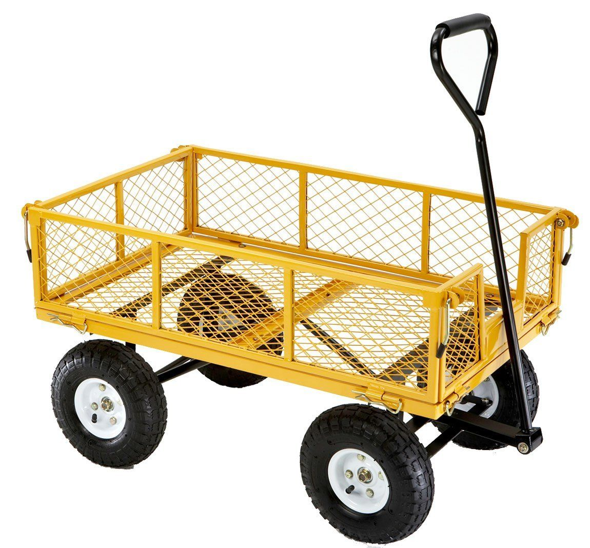 Amazon Com Farm Ranch Fr1245 2 Steel Utility Cart With Removable Folding Sides And 10 Inch Pneumatic Tires 900 Pound Capacity 34 Inches By 21 With Images