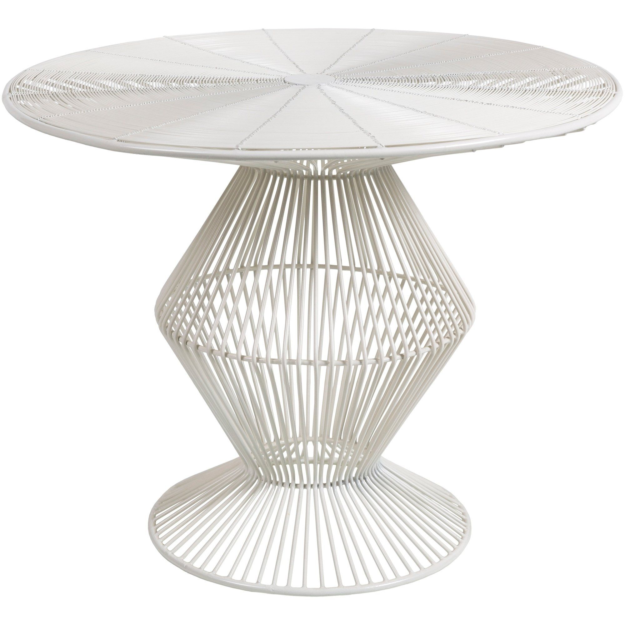 Ryder White Modern Metal Wire Accent Table Table Accent Decor