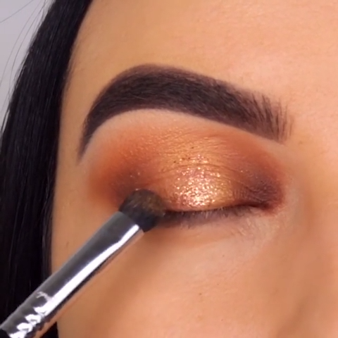 Simple Beautiful Sparkly Gold Eye Makeup Tutorial