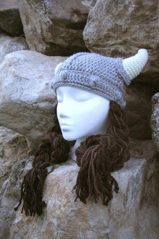Crochet Viking Hat, Viking Hat, Baby Viking Hat, Teen Viking Hat ...