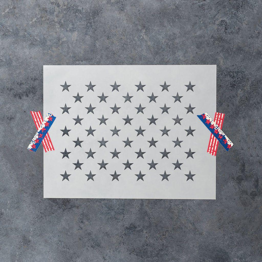 50 stars stencil star stencil american flag wood