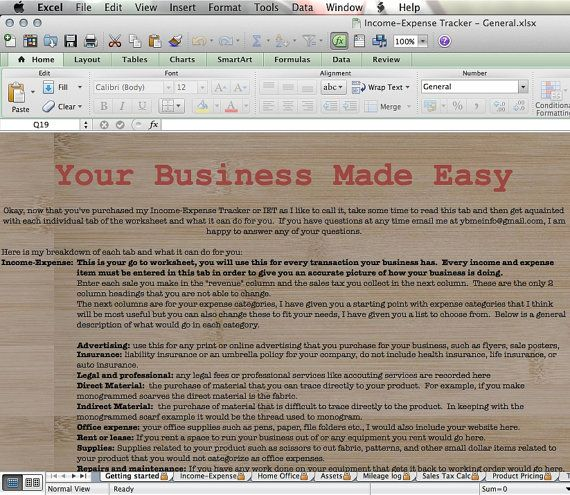 Bookkeeping System W/ IncomeExpense By