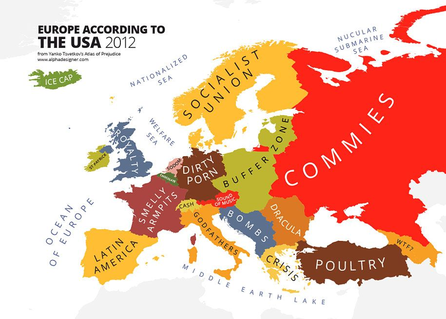 31 Mapping Stereotypes From Around The World