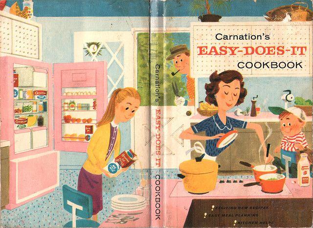 Carnation S Easy Does It Cookbook Cover Dollhouse Books Vintage Cookbooks Miniature Books