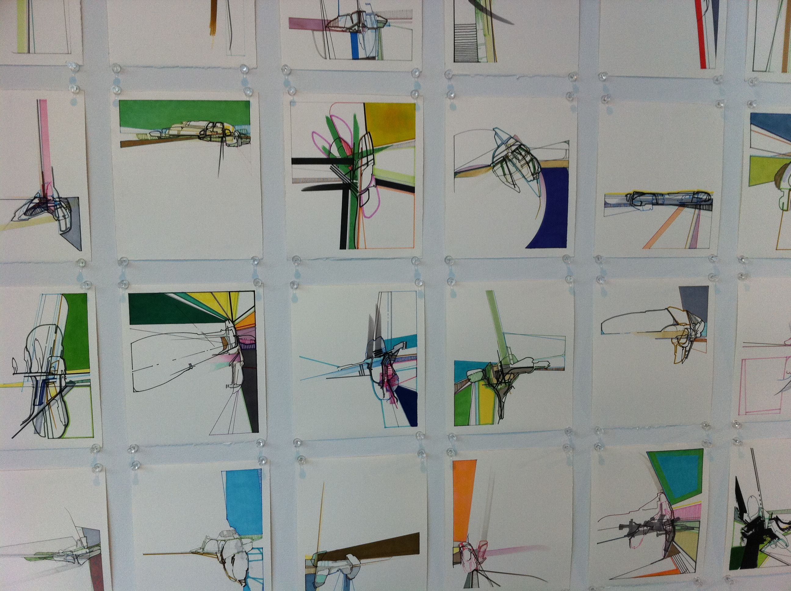 Nick Lamia abstract drawings - consistency in a body of work