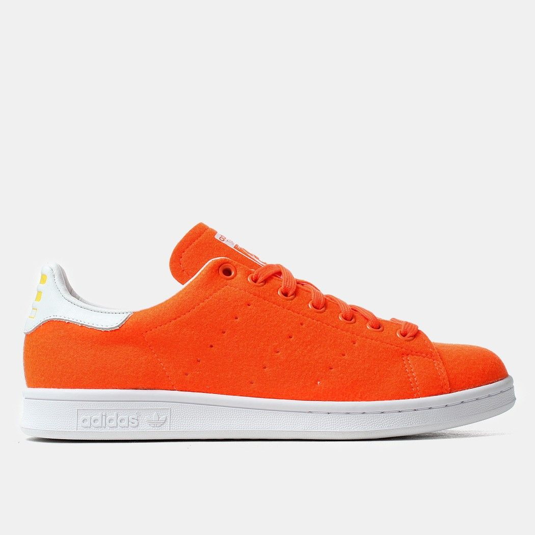 Adidas Originals X Pharrell Williams Stan Smith Tennis Shoes - Solar Orange