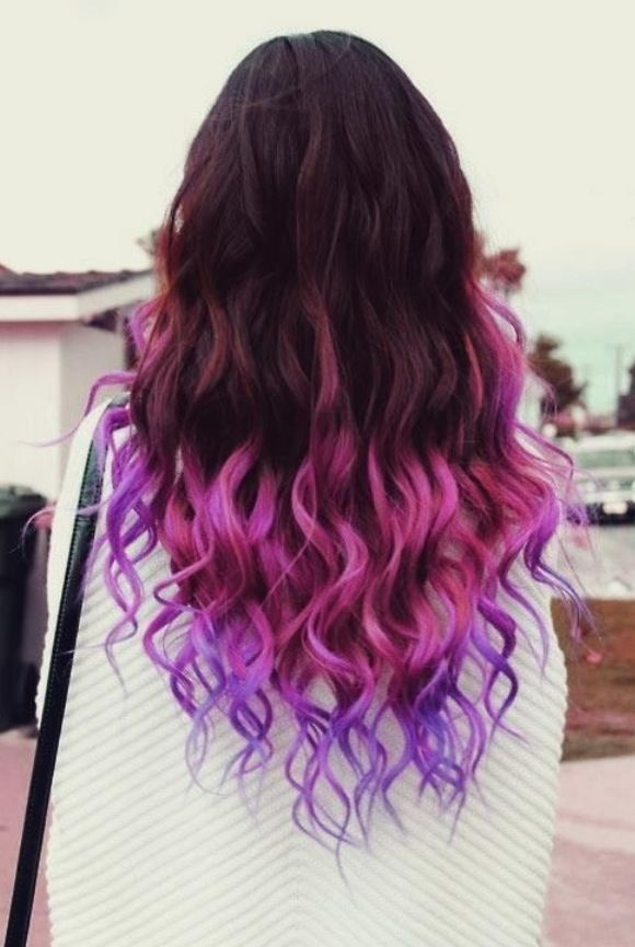 Brown Hair With Pink And Purple Tips Feelin Fancy Pinterest