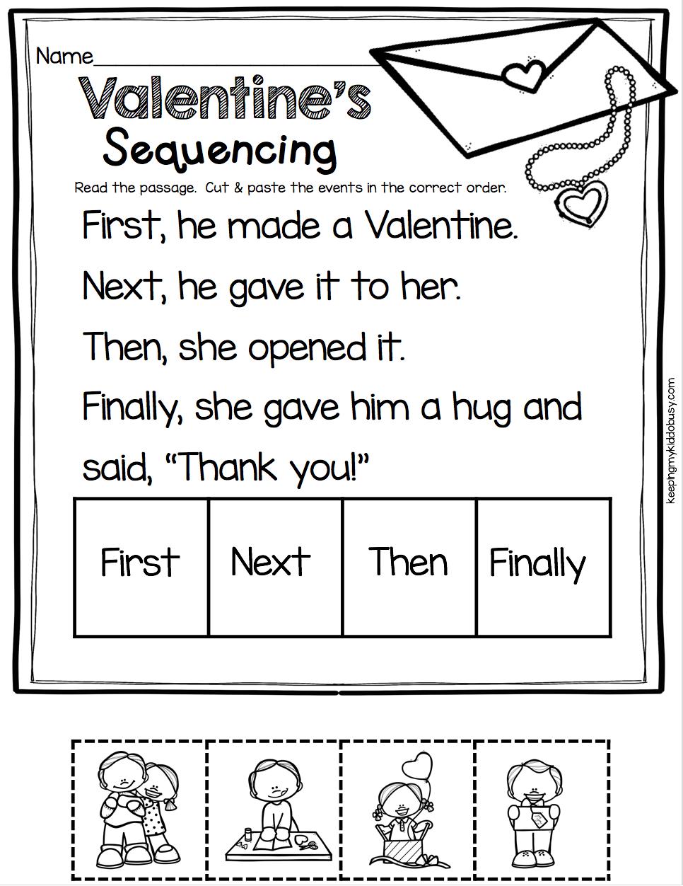 February Math Ela Pack Freebies Keeping My Kiddo Busy February Math Valentine Worksheets Kindergarten February [ 1252 x 966 Pixel ]