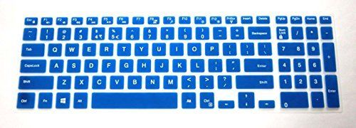 US layout semiblue Keyboard Protector Skin Cover for Dell