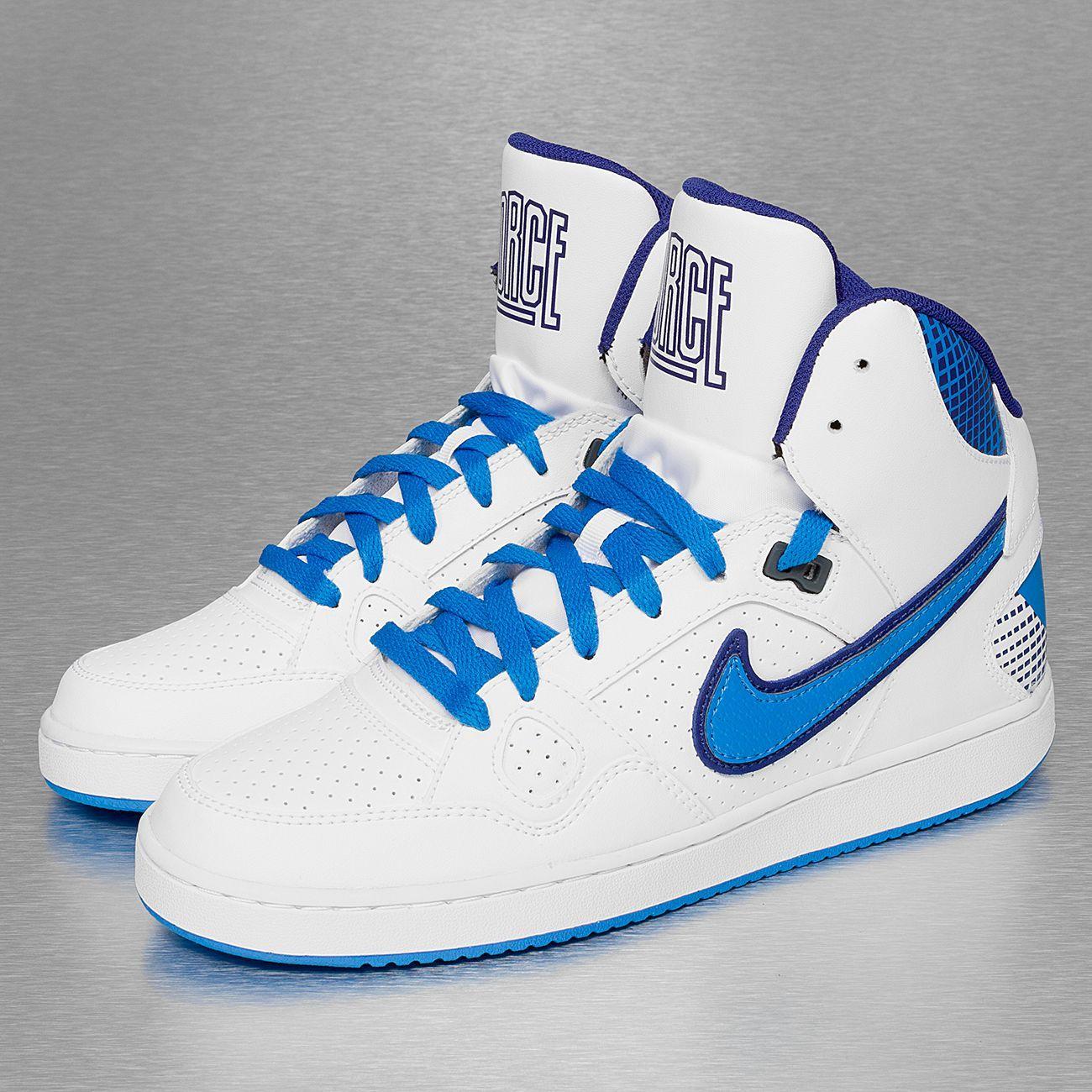 Nike Son Of Force Mid Basketball Shoes WhitePhoto Blue
