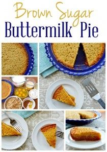 Brown Sugar Buttermilk Pie - a twist on a southern classic, using only common ingredients and a simple preparation method.