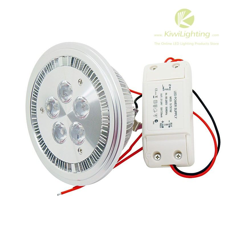 5w AR80 LED Light - cool/warm-white 2700K~7000K 450lm AC 110V/220V - Kiwi Lighting - AR80 LED Light, 5 watt, 450lm, Warm White 2700-3500K, Cool white 6000-7000K, input AC 110V/220V, + $24.99