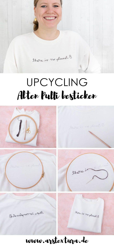 Photo of Alten Pulli upcyceln und besticken | ars textura – DIY-Blog