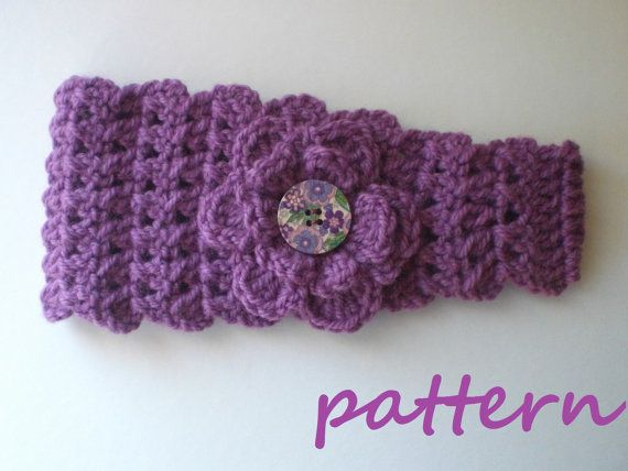 Crochet Headband Earwarmer Pattern. PDF 028 | Pinterest