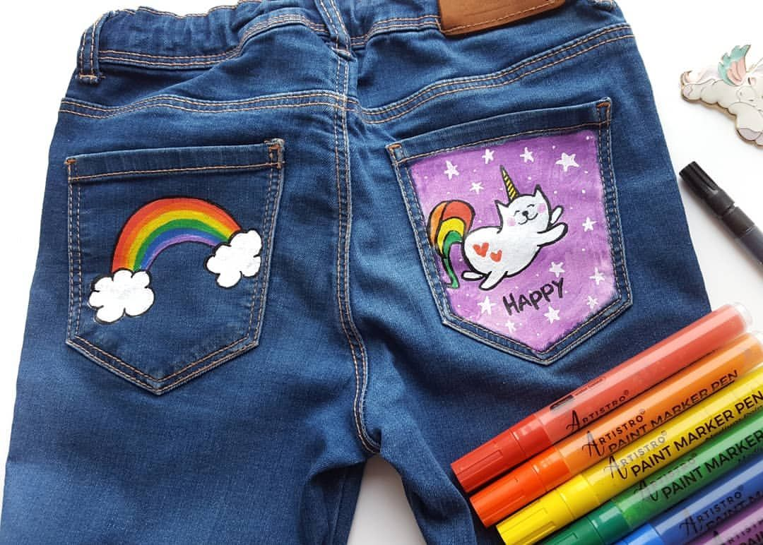 Can You Get Acrylic Paint Out Of Clothes Design Your Jeans With Artistro Paint Pens Artistro Acrylic Paint Pens The Best Decision To Manage The Artwork On Paint Pens Acrylic Paint Pens Paint Markers
