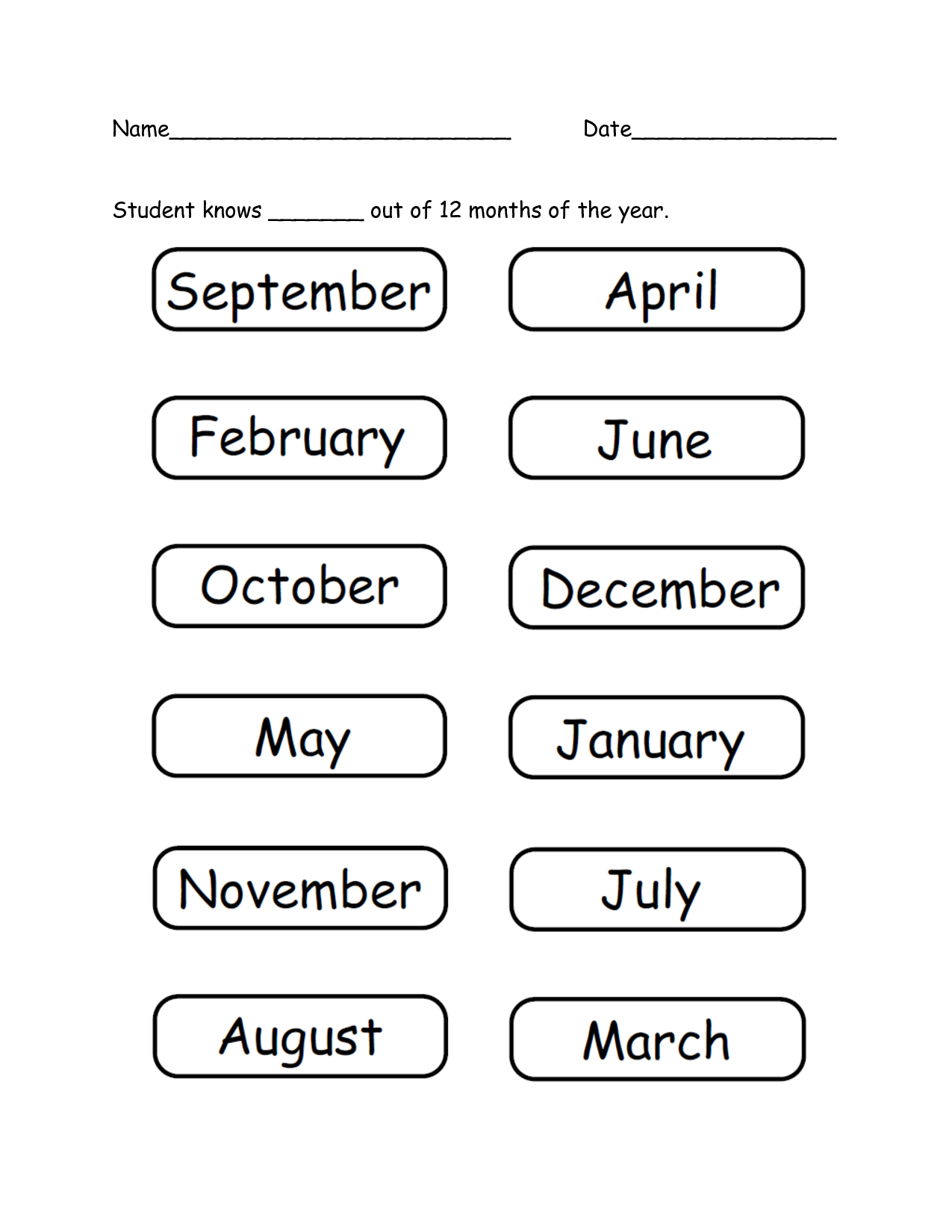 Months Of The Year Espemorenospot P