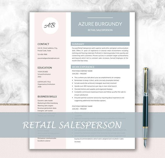 Salesperson Resume + Cover Letter Design + Resume Writing Tips + - salesperson cover letter