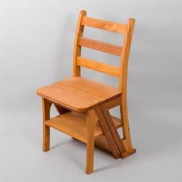Mahogany Step Chair Designed And Built At Woodmonkey Custom Wood Furniture Woodworking In Edmonton Custom Wood Furniture Wood Furniture Furniture