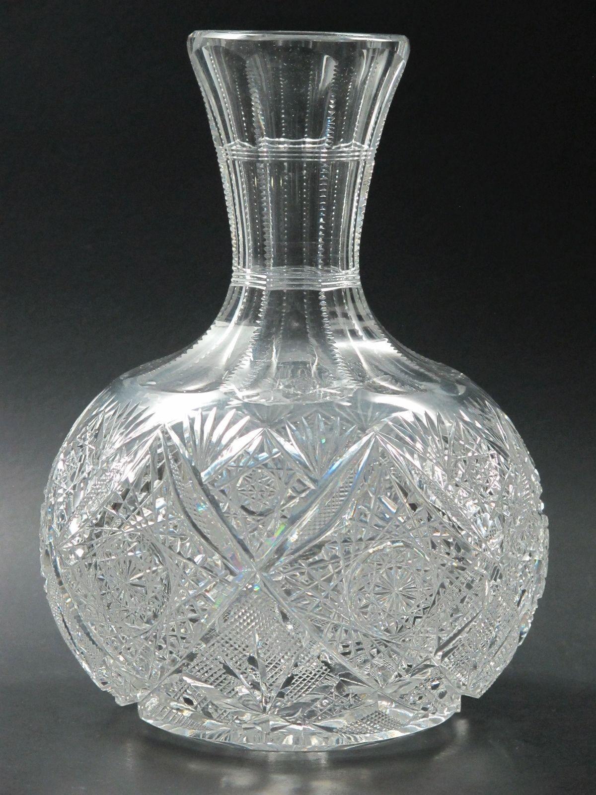 Elmira 100 american brilliant period cut glass water carafe vase elmira 100 american brilliant period cut glass water carafe vase antique reviewsmspy