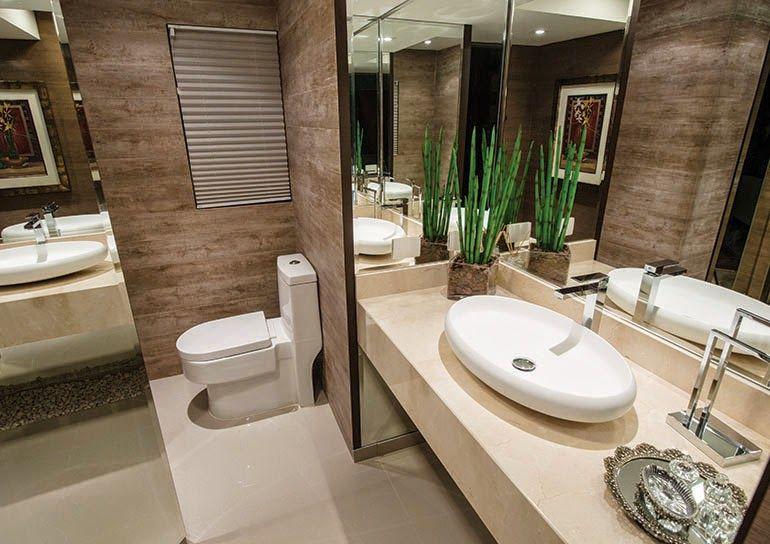 Porcelanato madeira em banheiros e lavabos – veja modelos lindos dicas!  Ban -> Banheiro Pequeno Em Porcelanato