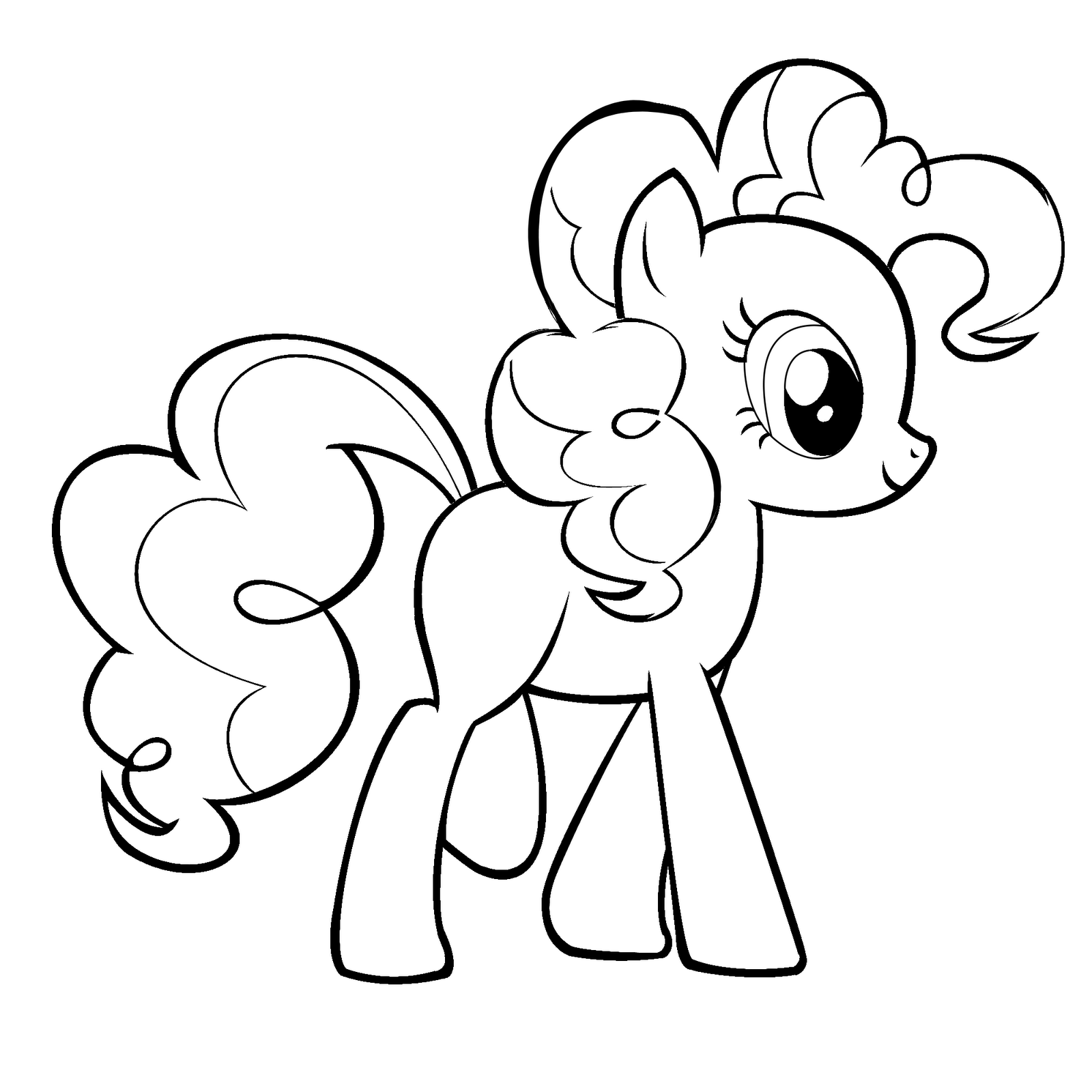 My Little Pony Pinkie Pie Coloring Pages Malvorlagen Pinterest