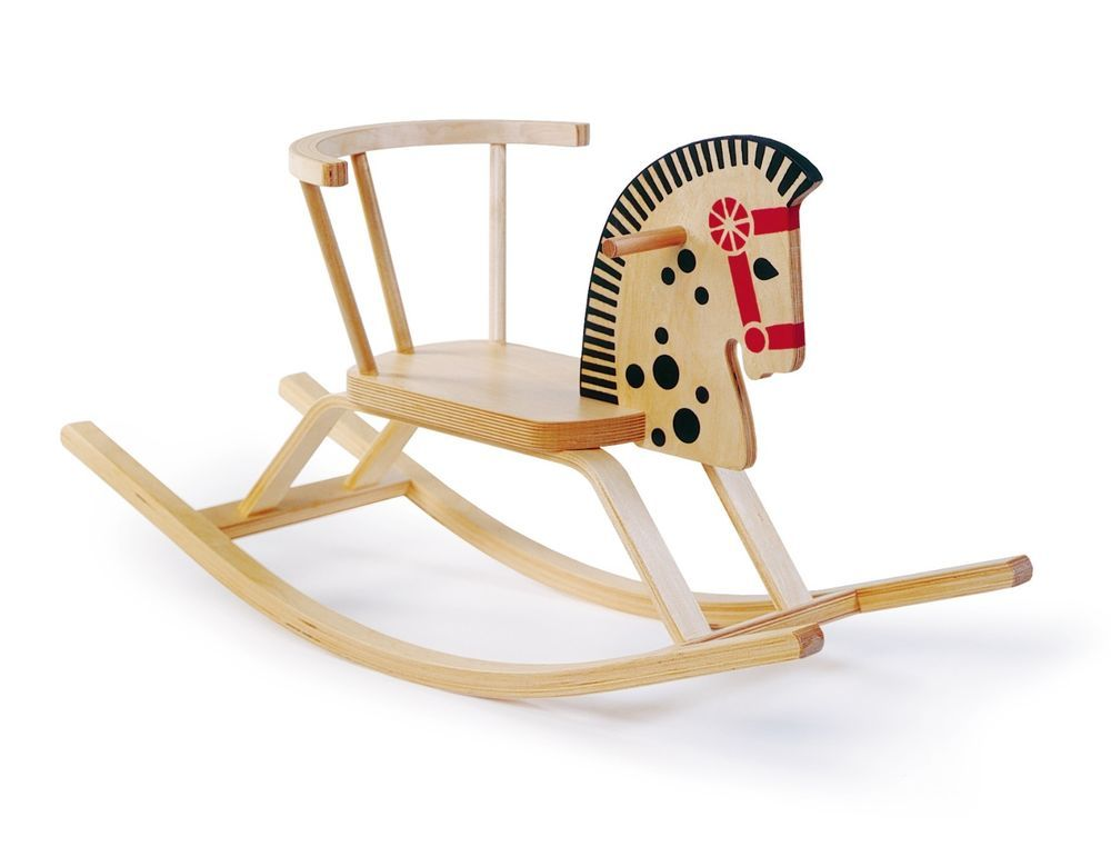 Classic Chevalier Wooden Rocker Rocking Horse Birch Toddler Chair Ride On  Play #WoodenRockingHorse