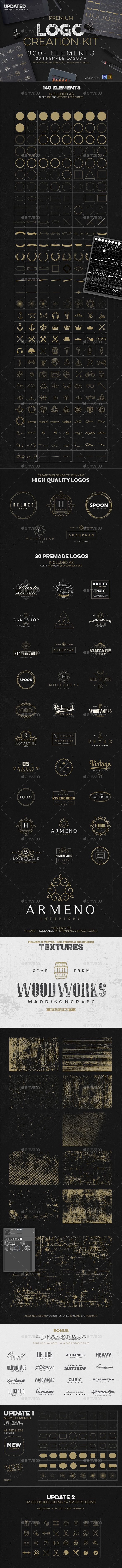 Logo creation kit bonus logo creation logos and badge logo logo creation kit bonus vector eps ai and psd design download baditri Gallery