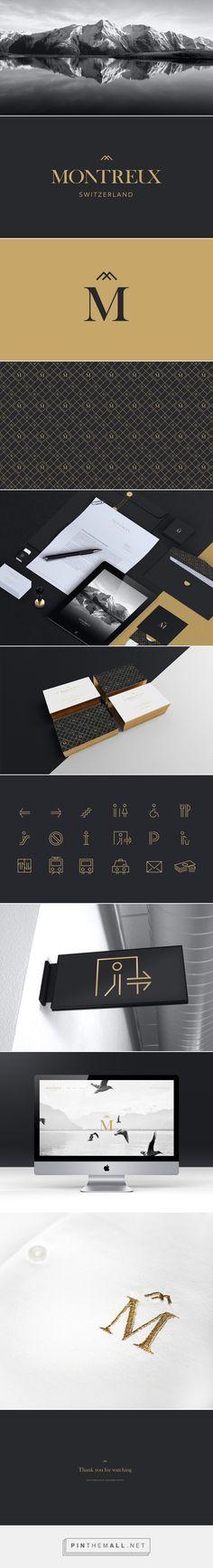 Mantener la misma identidad visual en todos los materiales de marketing y comunicación. Montreux   Branding on Behance... - a grouped images picture - Pin Them All