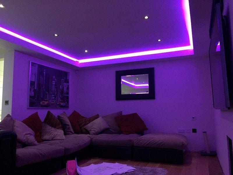 Interior Glass Walls Interioryellowpaint Info 2908817254 Interiormonologueexamples Purple Bedroom Decor Led Lighting Bedroom Aesthetic Room Decor