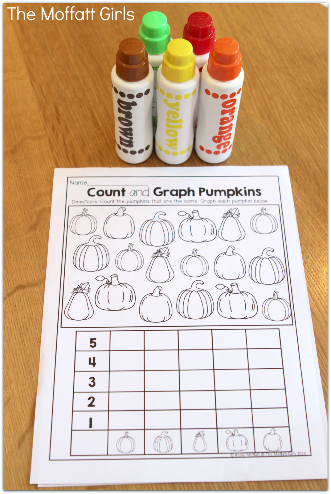 Pumpkin Graphing And Dot Markers Fun Way To Learn Simple