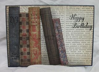 Julia S Cards A Card For Book Lovers Masculine Cards Stamped Cards Birthday Cards For Men