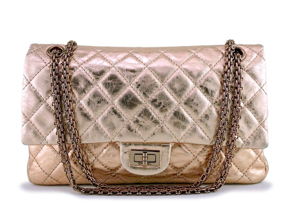 f017370261e5 Chanel Rose Gold Reissue 226 Classic 2.55 Flap Bag RGHW in 2019 ...
